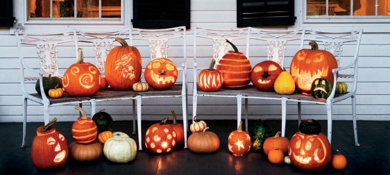 Idée décoration halloween citrouille