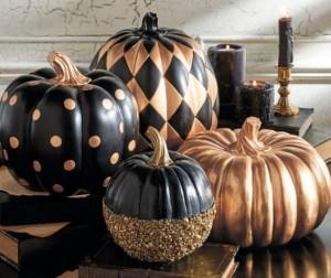 citrouilles halloween dore noire