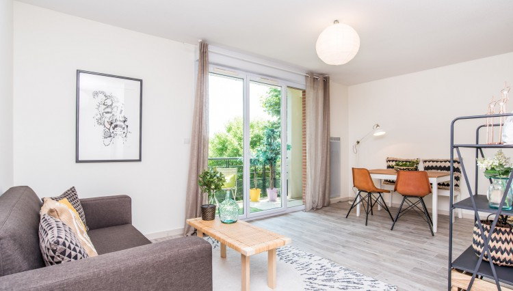 Home staging toulouse a vendre appartement T3 à lèguevin