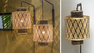 lampe tressée osier, rotin et bambou !